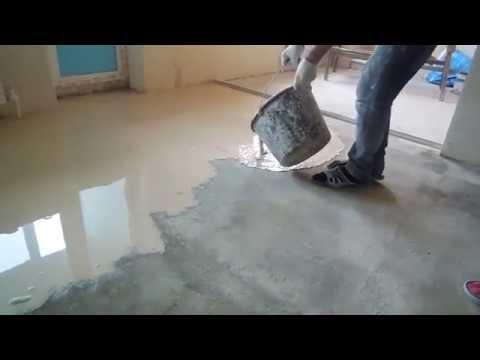Залить пол в квартире своими руками видео