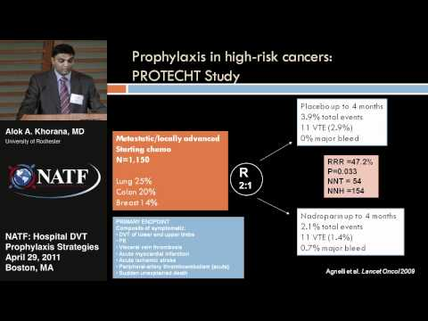VTE Prevention in Cancer Patients - Alok A. Khorana, MD