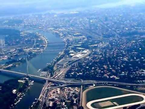 Departing Belgrade Nikola Tesla Airport to Memmingen - view over the city