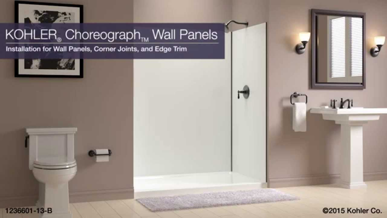 Shower Wall Panel Installation Standard Alcove Kohler Choreograph Youtube