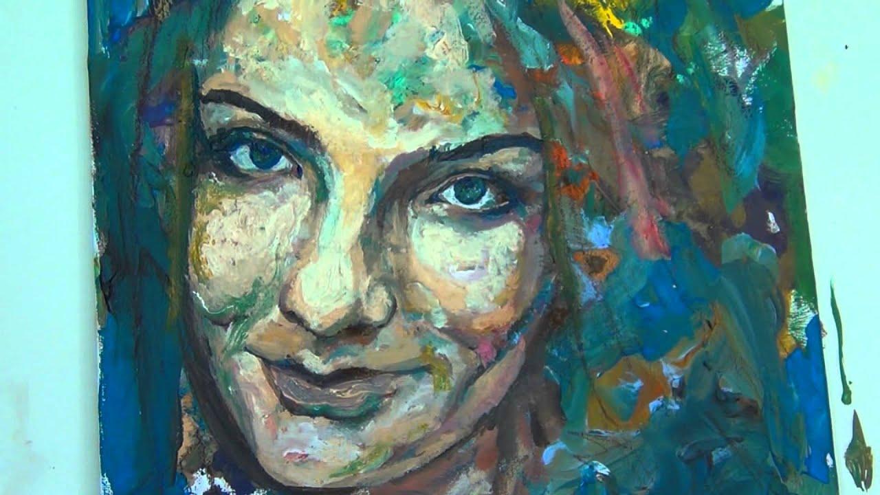Acrylic Portrait Painting Videos