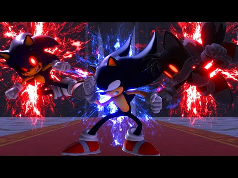 Dark Sonic V.S. Sonic.EXE And Tails.EXE - Part 3 [Animation] ソニック V. ソニック