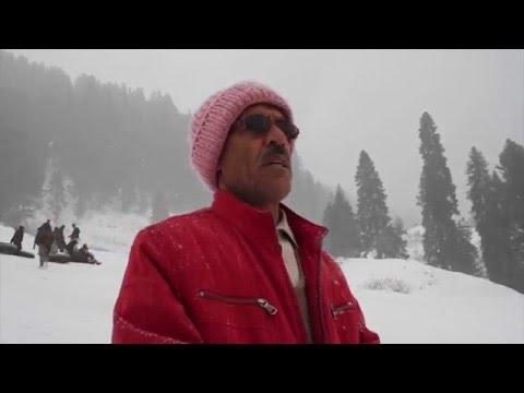 Beautiful Pakistan Malam Jabba مالم جبہ Snow Fall way to Hill Station Swat Valley KPK 7 Feb 2015