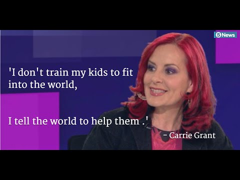 'I don't train my children to fit in the world, but tell the world to help them fit in.'