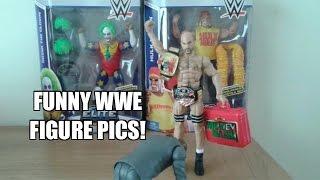 WWE Wrestling Figures in FUNNY poses GOOFED ON by Ebenezer Mittelsdorf!!