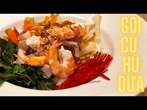 Cách làm Gỏi Củ Hũ Dừa Tôm Thịt - Món khai vị ngon cho các bữa tiệc   Nấu nướng ăn thật sướng