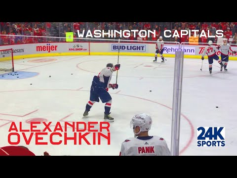 Washington Capitals Warm-Ups Alexander Ovechkin Up Close - Always great to watch #8 in person