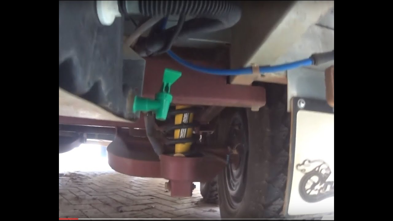 off road caravan rv diy project protecting the water tank tap and