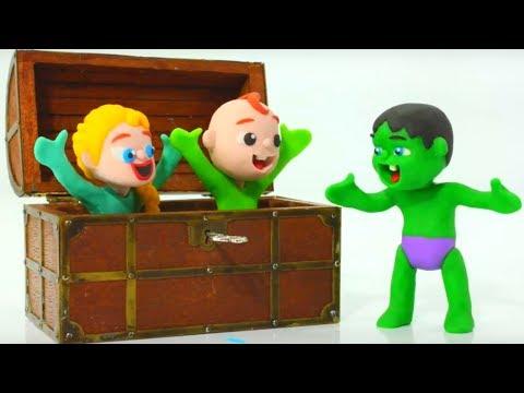 SUPERHERO BABY FINDS A MAGIC KEY 鉂� Superhero Babies Play Doh Cartoons For Kids