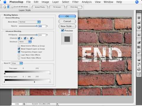 Learn Photoshop - How to Simulate Graffiti: Text