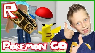 Catching Pikachu in Pokemon Go / Roblox