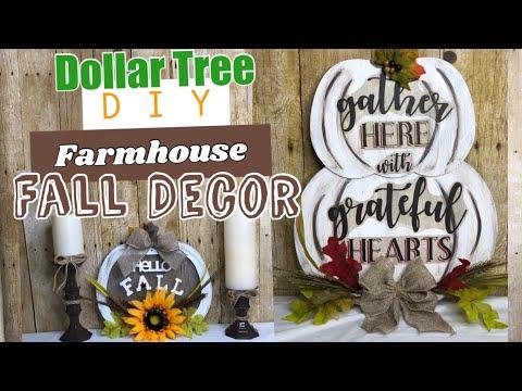 DOLLAR TREE DIY | FARMHOUSE FALL HOME DECOR