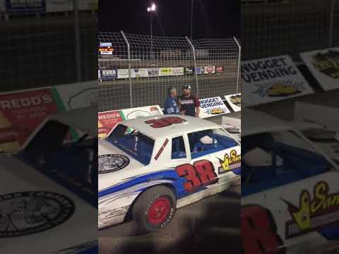 Red River Valley Speedway IMCA Stock Car Feature Win Interview 8-16-19