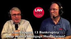 Can Chapter 13 bankruptcy help with a mortgage modification?