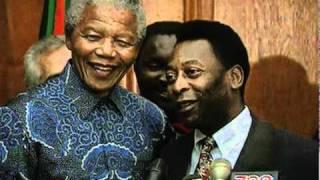 Nelson Mandela meets Pele