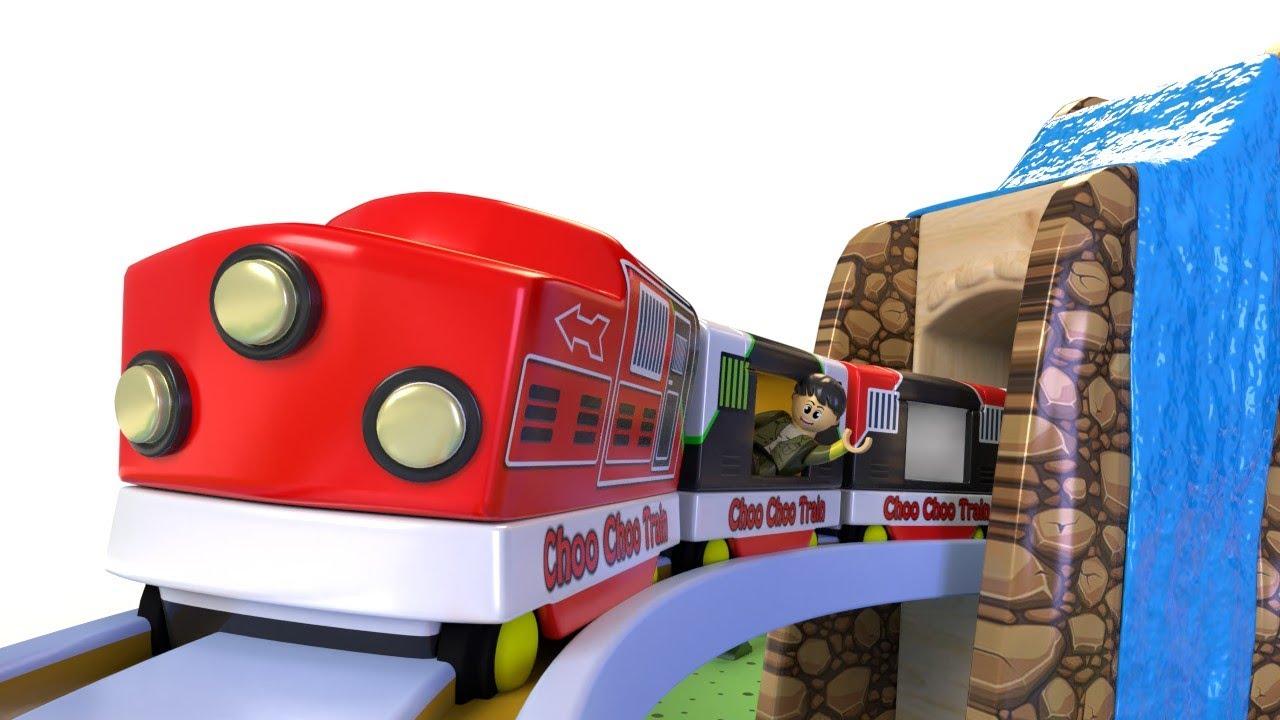 Train Journey kids - Playing kid with toy car - choo choo train kids videos