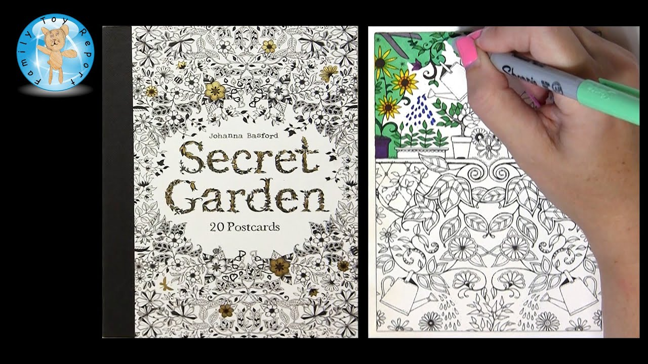 secret garden by johanna basford adult coloring book postcards family toy report youtube