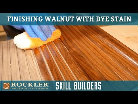Finishing Walnut with Dye Stain | Rockler Skill Builders