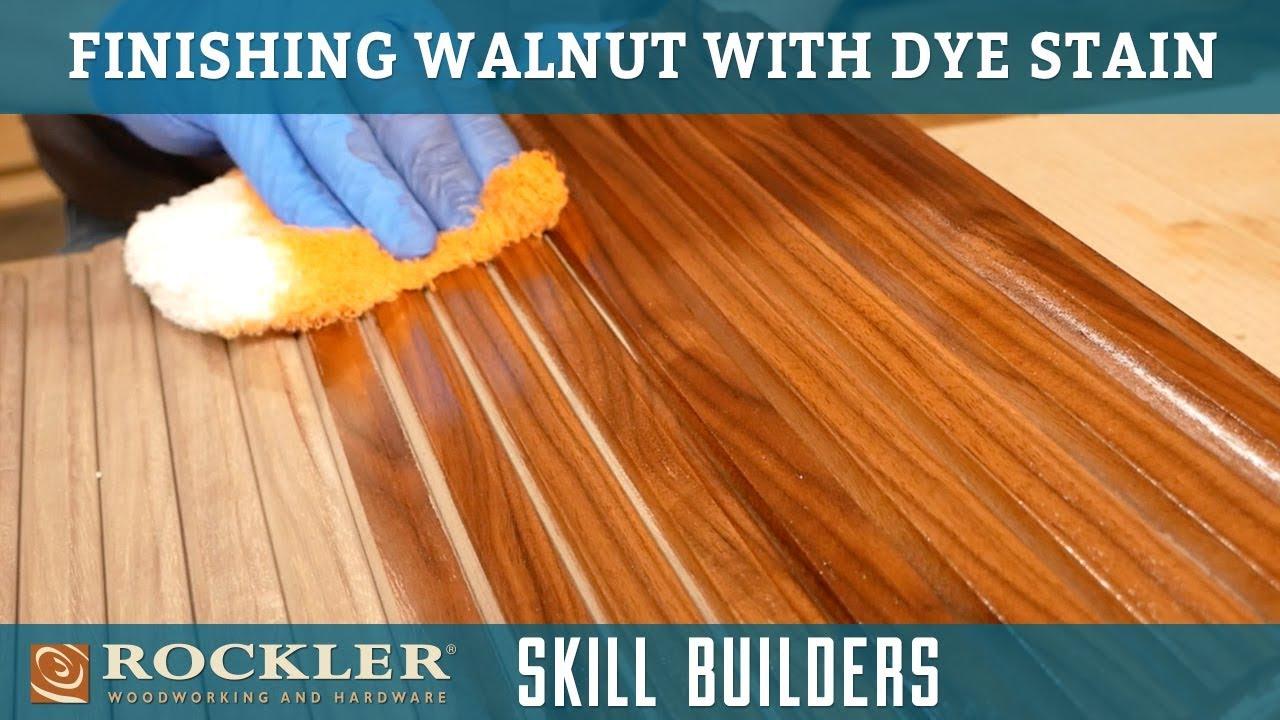 Finishing Walnut with Dye Stain | Rockler Skill Builders