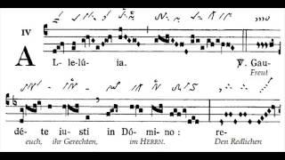 Alleluia gregorian 'Gaudete justi', Sanctae Familiae (fête de la Sainte Famille)