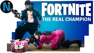 FORTNITE The Real Champion - New SKIN and CHARACTER | Battle Royale REAL LIFE