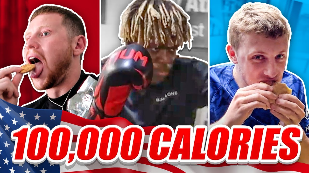 SIDEMEN 100,000 CALORIES IN 24 HOURS CHALLENGE (USA EDITION) image