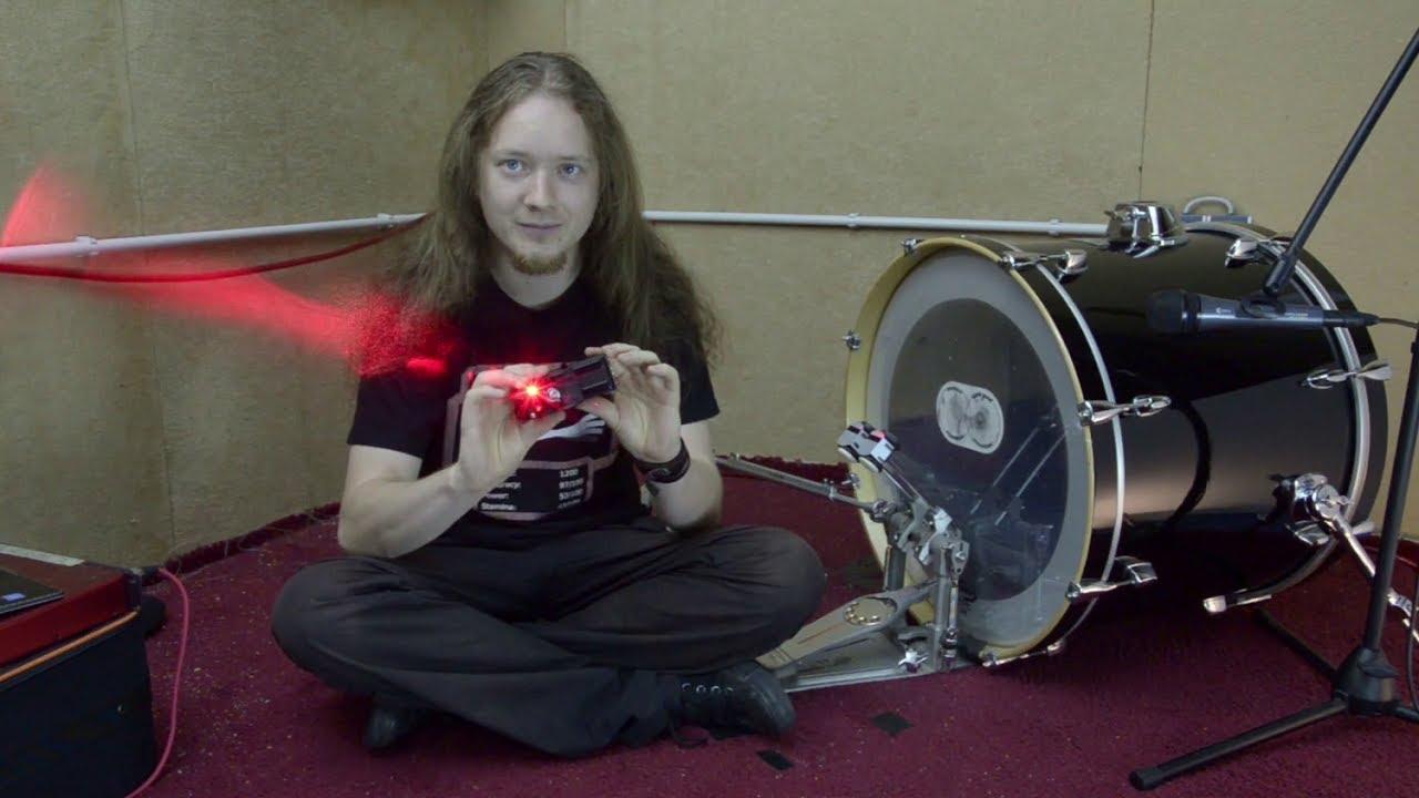 innovative laser bass drum trigger review youtube. Black Bedroom Furniture Sets. Home Design Ideas