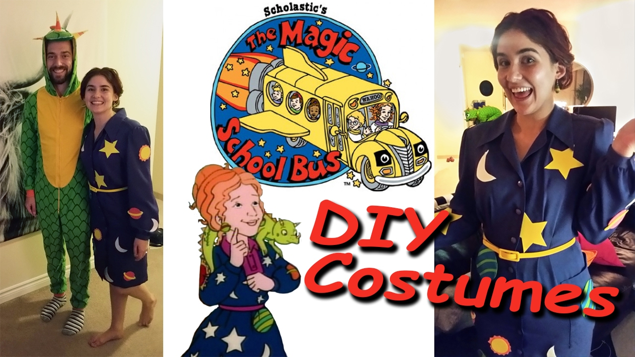 diy magic school bus costumes how i made ms frizzle liz