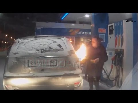 Woman sparks fire trying to unfreeze gas pump with lighter