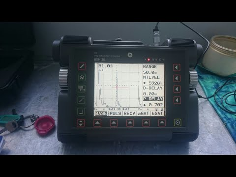 Service Krautkramer USM-35 Ultrasonic Flaw Detector (No Save Memory After On/off And Can't On/off)