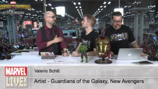 Valerio Schiti of New Avengers Stops By Marvel LIVE! During His First Time at NYCC 2014