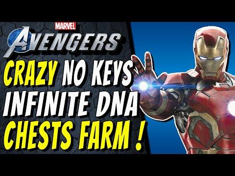 INSANE NO DNA KEYS INFINITE CHESTS FARM! Marvel's Avengers Unlimited Upgrade Modules & Patterns