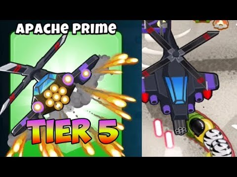 Bloons TD 6  APACHE PRIME  5TH TIER HELI PILOT