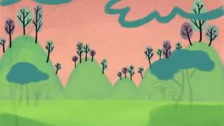 Malerei eine retro-animation bg auf einem iPad