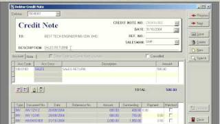 QnE Video Training - 9. Debtor Credit Note