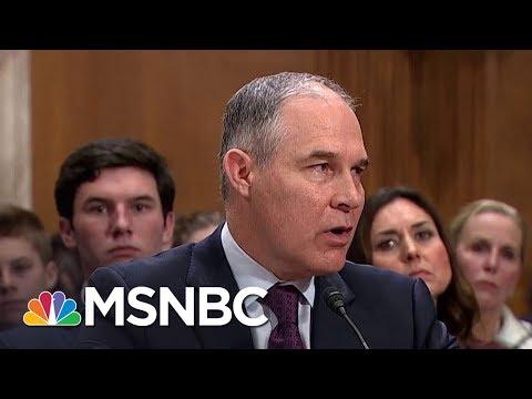 Perks For Scott Pruitt Staffers Swell List Of Scandals At Donald Trump's EPA | Rachel Maddow | MSNBC