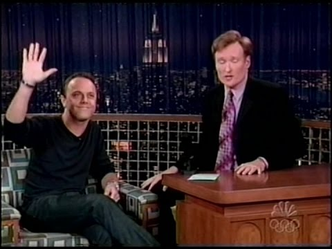 """Metallica's Lars Ulrich on """"Late Night with Conan O'Brien"""" (2004) [Full Interview]"""