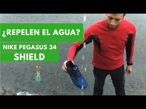 Nike Pegasus 34 SHIELD ¿Repelen el agua?: Las ponemos a prueba
