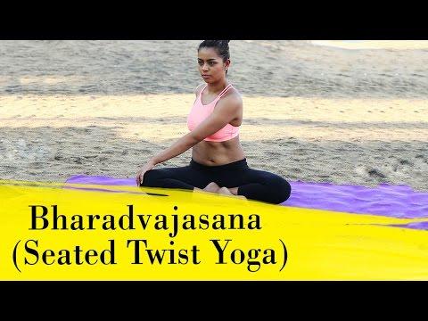 Yoga Asanas - Bharadvajasana - Yoga for Lower Back Pain Relief, Sciatica Relief & Neck Pain Relief