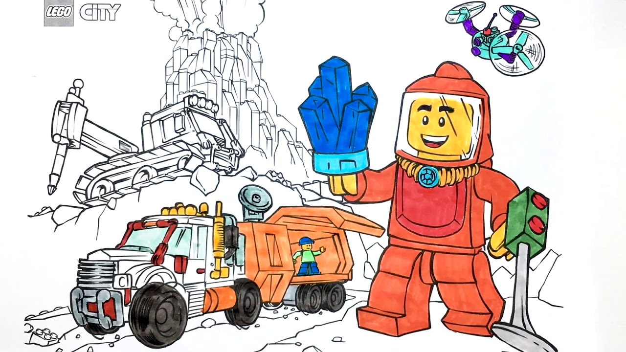 Lego City Coloring Pages For Kids 0002 Youtube