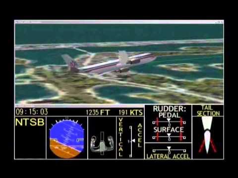 In-Flight Separation of Vertical Stabilizer American Airlines Flight 587 - Flight Path