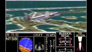 In-Flight Separation of Vertical Stabilizer American Airlines Flight 587 - Flight Path