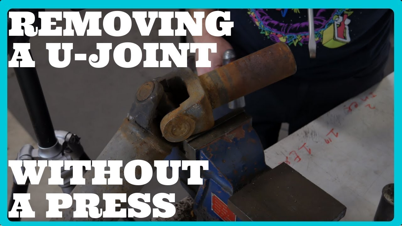 Separate The U-Joint From The Slip Yoke | Removing a Universal Joint  Without a Press