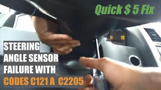 Quick Fix codes C121A and C2205 Steering Angle Sensor Chrysler 300 when turning left