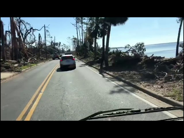 Aftermath Footage from Hurricane Michael in Panama City Florida