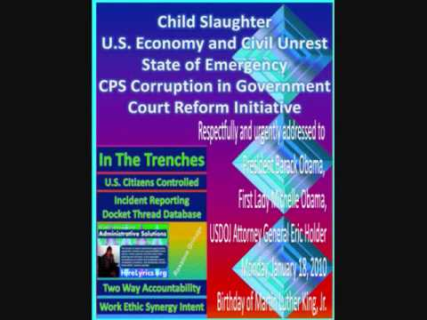US CPS Victims Use Free Form Submit Child Slaughter State of Emergency Evidence Obama USDOJ MLK Bday