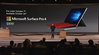 CNET News - Microsoft unveils Surface Pro 4(Microsoft reveals its fourth-generation tablet with the new Surface Pro 4. The device has a 12.3-inch screen, is 8.4 millimeters thick and has a new fingerprint ..., 2015-10-06T16:28:15.000Z)