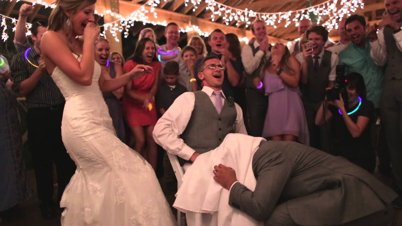 Awesome Bride U0026 Groomsman Wedding Garter Prank   YouTube