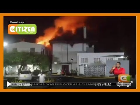 Firefighters battling blaze at Mombasa Hospital