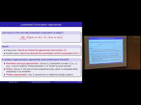 Approximate Dynamic Learning - Dimitri P. Bertsekas (Lecture 1, Part B)